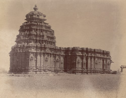 General view from the south-west of the Kalleshvara Temple, Kukkunur